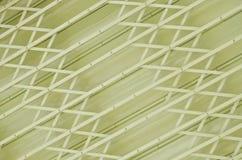 Yellow metal grille sliding door Stock Images