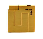 Yellow metal lighter Stock Photography