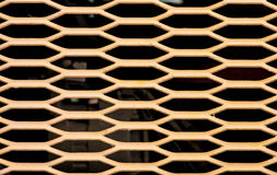 Yellow metal mesh Stock Photography