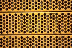 Yellow metal mesh Royalty Free Stock Images