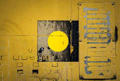 Yellow metal panels background Royalty Free Stock Photography