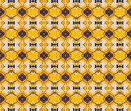 Yellow metal patterned background Royalty Free Stock Photo