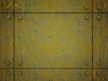 Yellow metal plate Royalty Free Stock Images