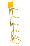Yellow metal rack Stock Image