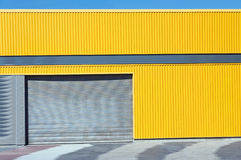 Yellow Metal sheet wall Stock Image