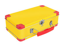 Yellow metal suitcase Royalty Free Stock Photography