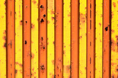 Yellow metal texture Stock Photography