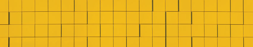 Yellow Metallic Facade Panel Background Panorama Royalty Free Stock Images