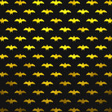 Yellow Metallic Foil Bats Polka Dot Pattern Stock Images
