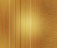Yellow Metallic Texture Brushed Metal Stock Image