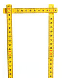 Yellow meter on white background Stock Photography
