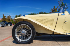 Yellow 1947 MG TC Roadster Stock Photos