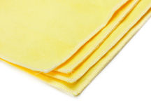 Yellow microfiber duster Stock Image