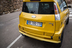 Yellow Mini Car Royalty Free Stock Photo