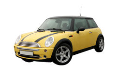 Yellow Mini cooper Stock Images