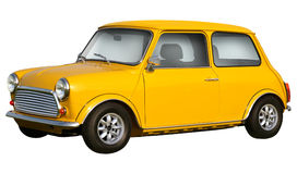 Yellow mini cooper Royalty Free Stock Image