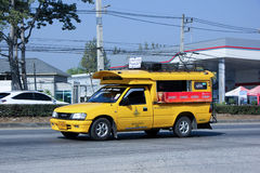 Yellow mini truck taxi chiangmai Royalty Free Stock Photography