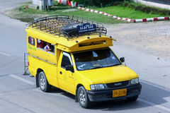 Yellow  mini truck taxi chiangmai Stock Photography