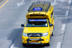 Yellow  mini truck taxi chiangmai Royalty Free Stock Photos