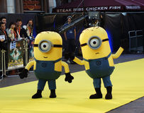 Yellow Minion At Despicable Me Premiere. LONDON - October 11: Yellow Minion At The Despicable Me Premiere October 11, 2010 in Leicester Square London, England Stock Images