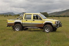Yellow Mitsubishi Colt Rodeo Twin Cab Royalty Free Stock Image