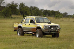 Yellow Mitsubishi Colt Rodeo Twin Cab Stock Photography