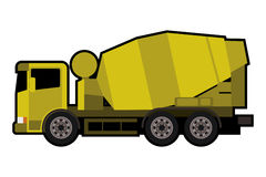 Yellow mixer truck Stock Photography