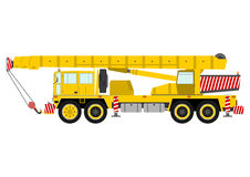 Yellow mobile crane Stock Photo