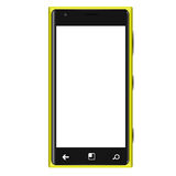 Yellow Mobilephone Type Elagance Blank. An elegance style mobilephone in yellow color Stock Image