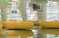 Yellow modern furniture Stock Images