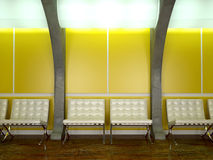 Yellow modern interior Royalty Free Stock Photos