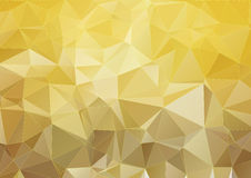 Yellow modern polygonal background Royalty Free Stock Images