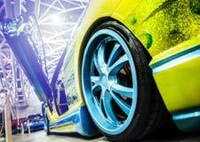 Yellow modern sport car Stock Image