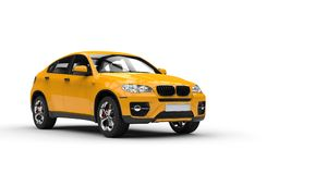 Yellow Modern SUV Stock Photos