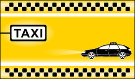 Yellow modern taxi background Royalty Free Stock Photo