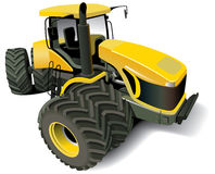 Yellow Modern Tractor. Detailed ial image of yellow modern tractor, isolated on white background Royalty Free Stock Photos