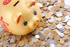 Yellow money-box Royalty Free Stock Photos