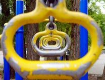 Yellow Monkey Bar. Kids monkey bar in a suburban park outside Toronto Royalty Free Stock Image