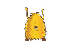 Yellow Monster Angry. Royalty Free Stock Image