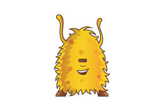 Yellow Monster Relaxed. Royalty Free Stock Photos
