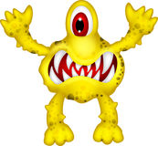yellow monster Royalty Free Stock Images