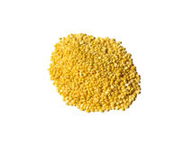 Yellow Moong Dal on White Royalty Free Stock Photos