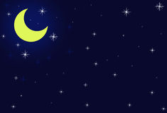 Yellow Moonlight. Yellow Moon light in the blue sky Royalty Free Stock Photo