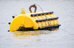 Free Yellow Mooring Buoy At Sea With Navigation Light Royalty Free Stock Images - 31730419