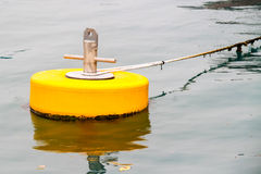 Yellow mooring buoys Royalty Free Stock Photo