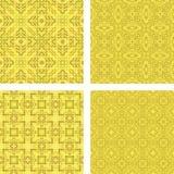 Yellow mosaic background set. Yellow seamless mosaic background set Royalty Free Stock Image