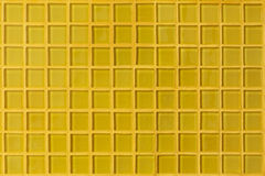 Yellow mosaic tile decoration wall room Stock Photography