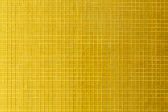 Yellow mosaic tile decoration wall room Royalty Free Stock Image