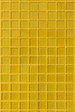 Yellow mosaic tile decoration wall room Stock Image