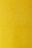 Yellow mosaic tile decoration wall room Royalty Free Stock Photos